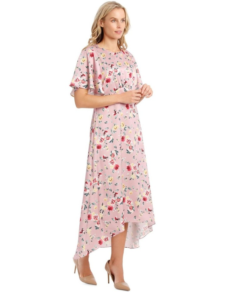 Maxi Flutter Sleeve Print Dress image 2