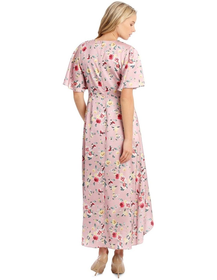 Maxi Flutter Sleeve Print Dress image 3