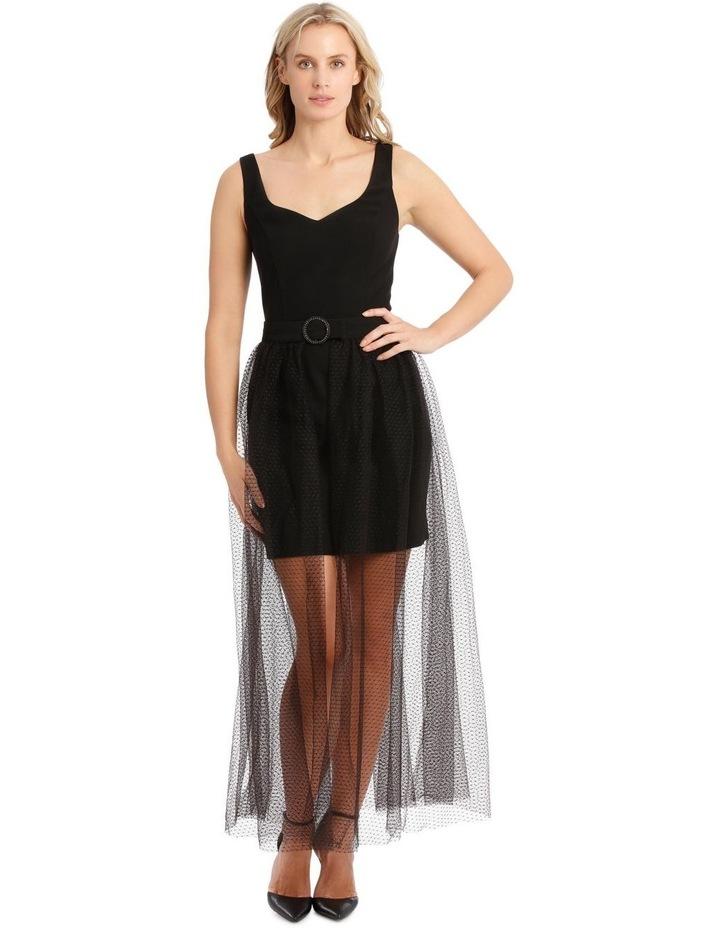 Mini Dress with Gathered Tulle Belt image 1