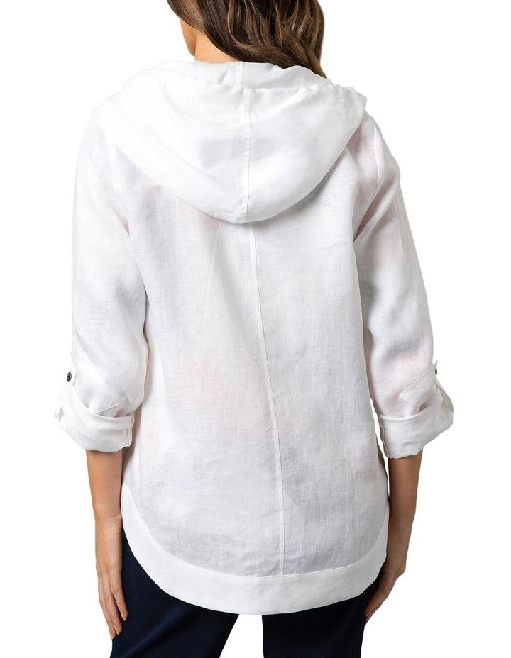 Stitch Detail Linen Jacket White image 2