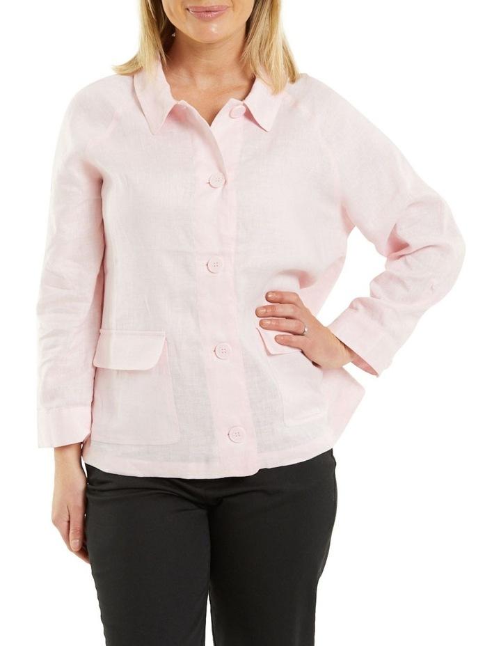 Patch Pocket Linen Jacket Pink image 1