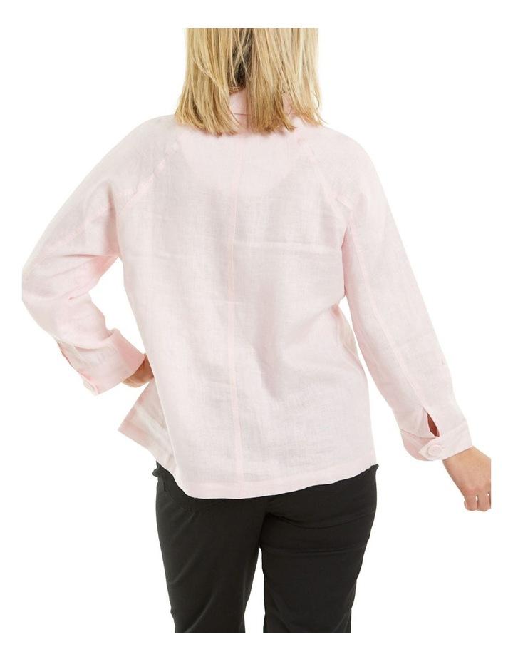 Patch Pocket Linen Jacket Pink image 2