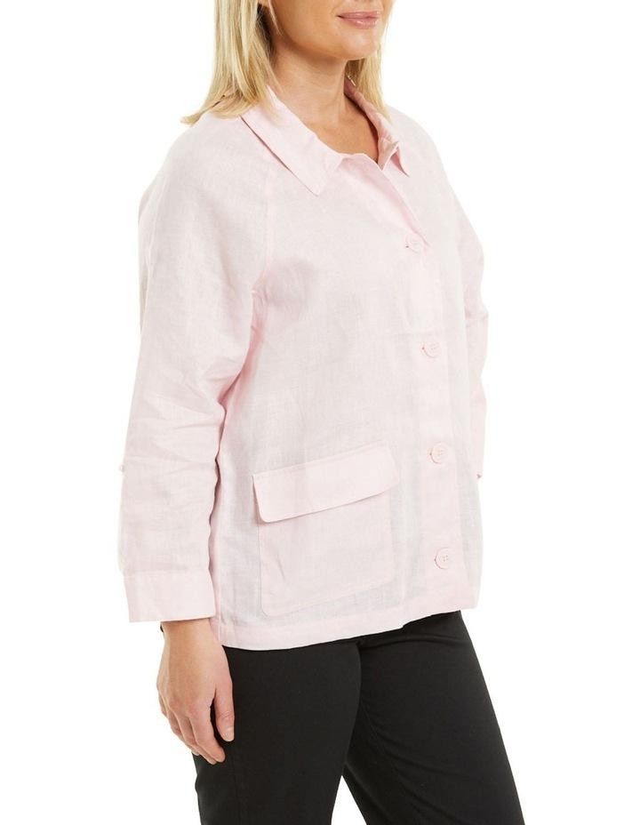 Patch Pocket Linen Jacket Pink image 3