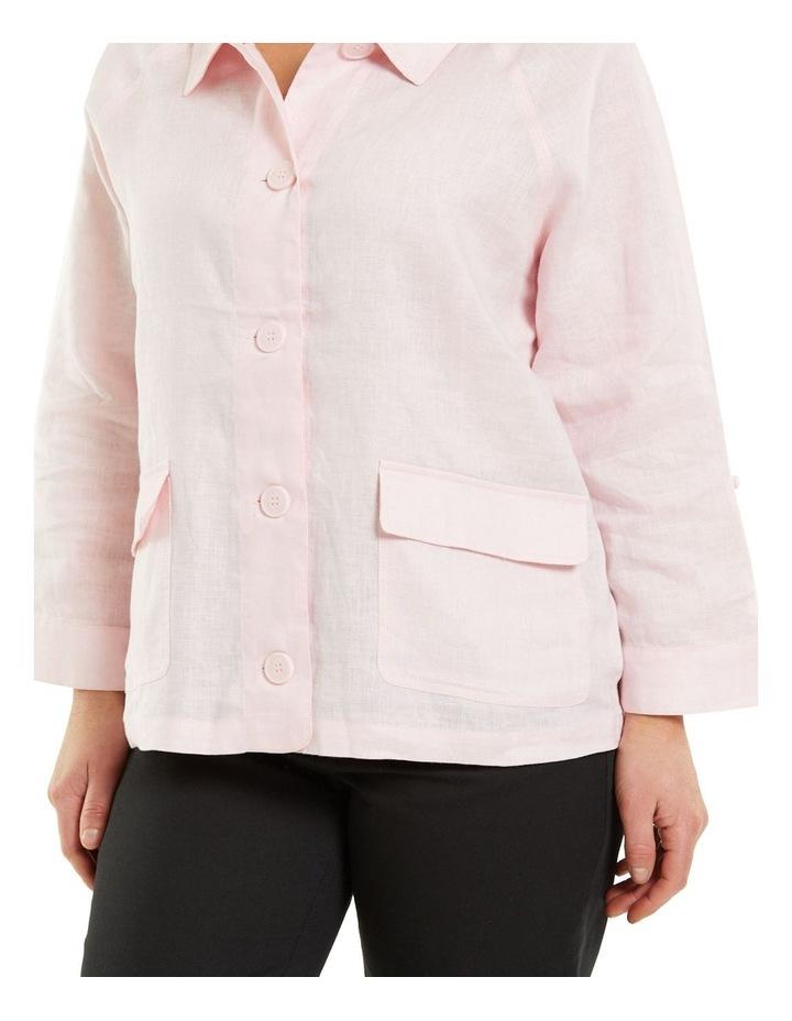 Patch Pocket Linen Jacket Pink image 4