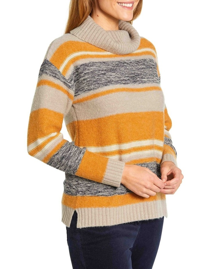 Mixed Stripe Roll Neck Jumper image 2