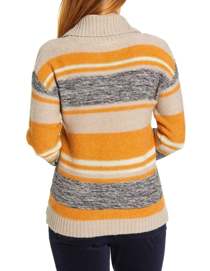 Mixed Stripe Roll Neck Jumper image 3