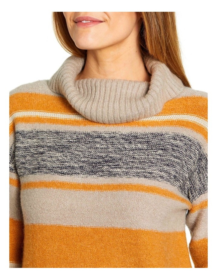 Mixed Stripe Roll Neck Jumper image 4