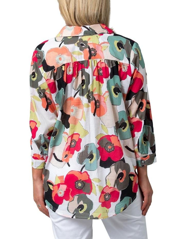 Long Sleeve Shirt Paper Floral Print image 2