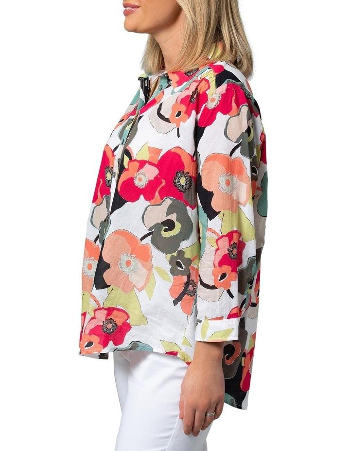 Long Sleeve Shirt Paper Floral Print image 3