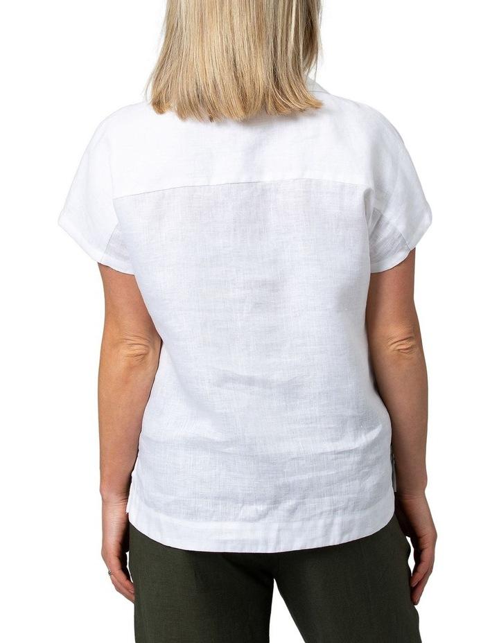 Boxy Essential Linen Shirt White image 2