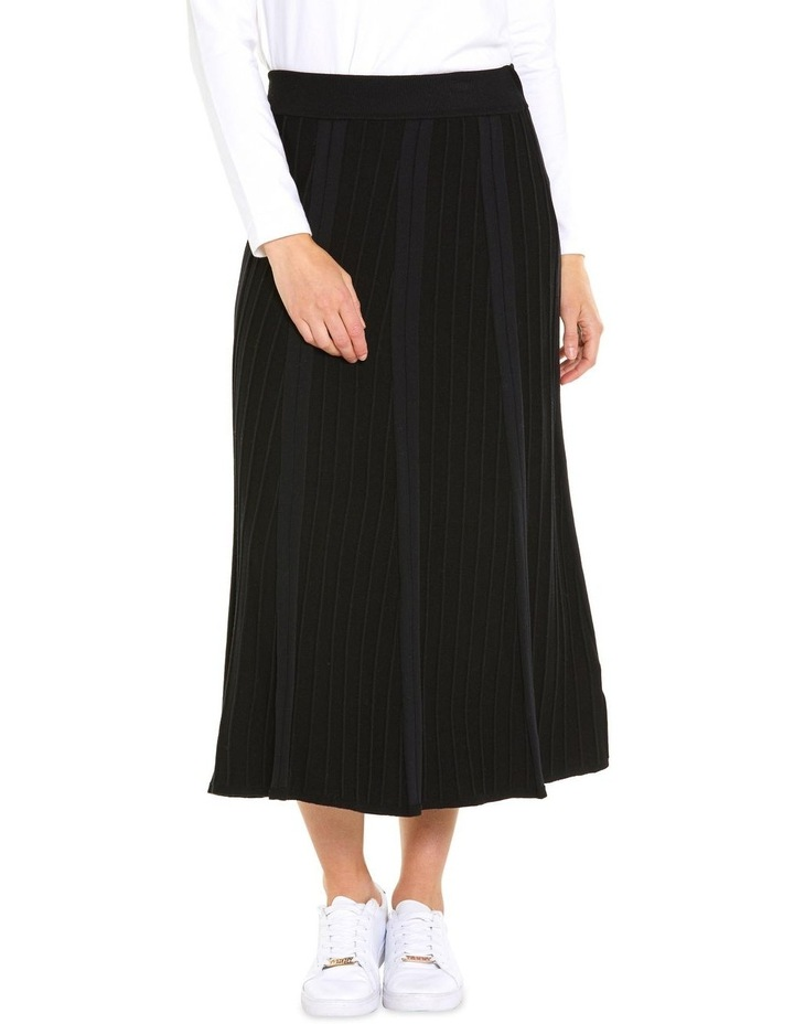 Pleated Knit Skirt image 1