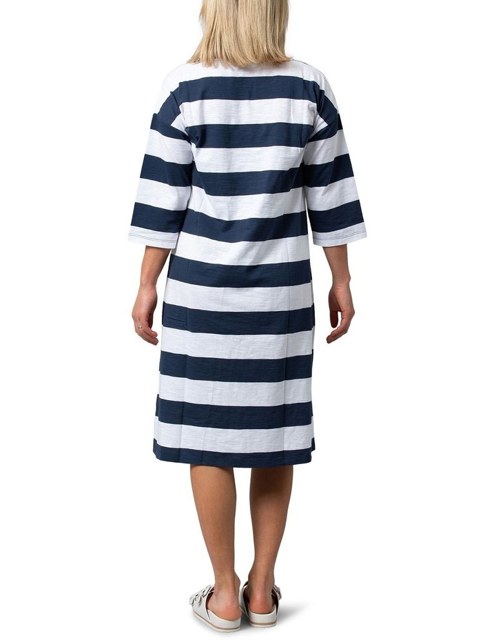Relaxed Stripe Dress Navy image 2