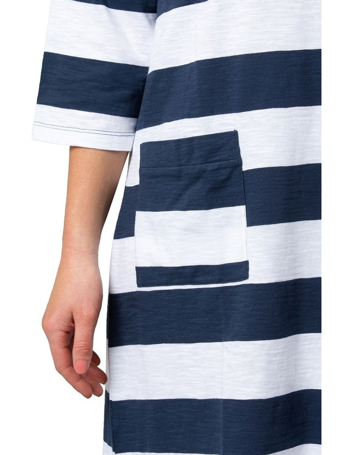 Relaxed Stripe Dress Navy image 4