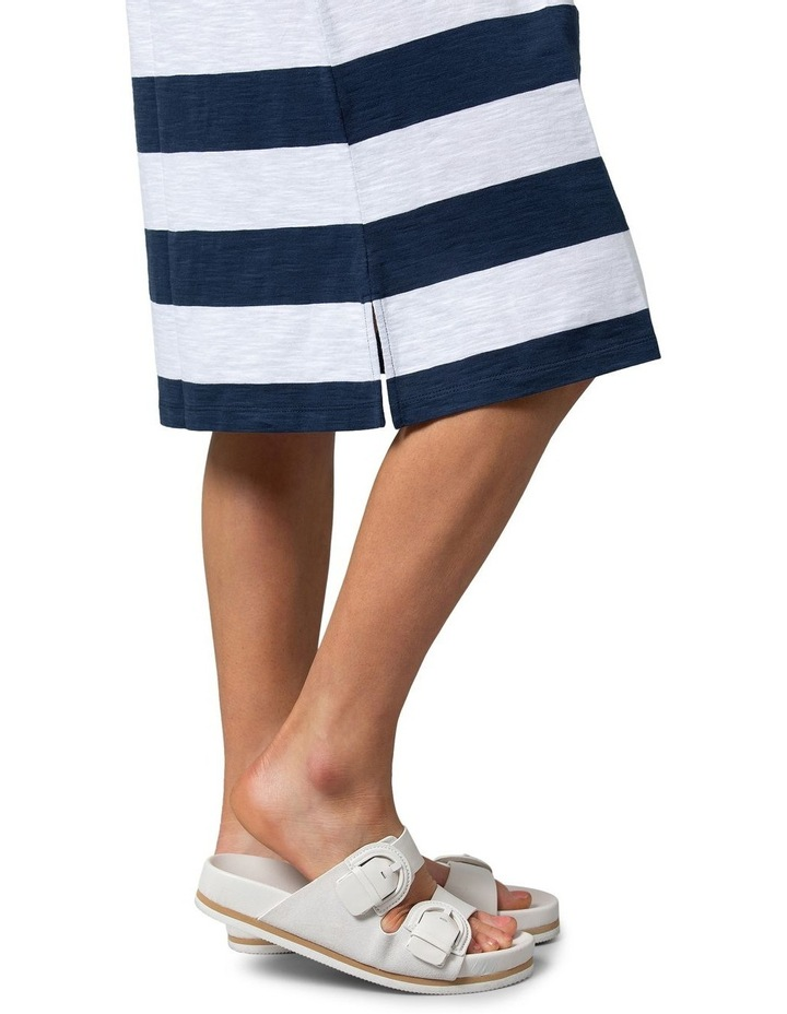 Relaxed Stripe Dress Navy image 5