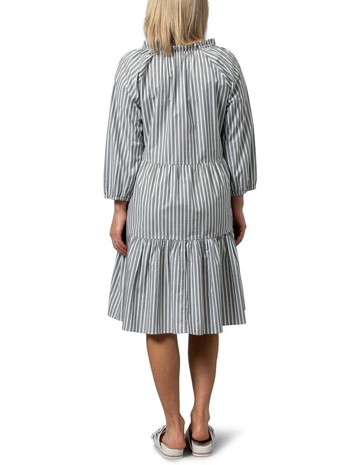 Hunter Green/White Midi Dress image 2
