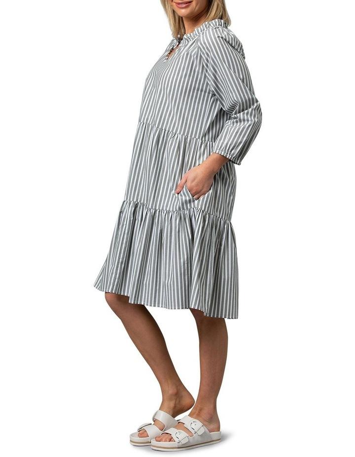 Hunter Green/White Midi Dress image 3