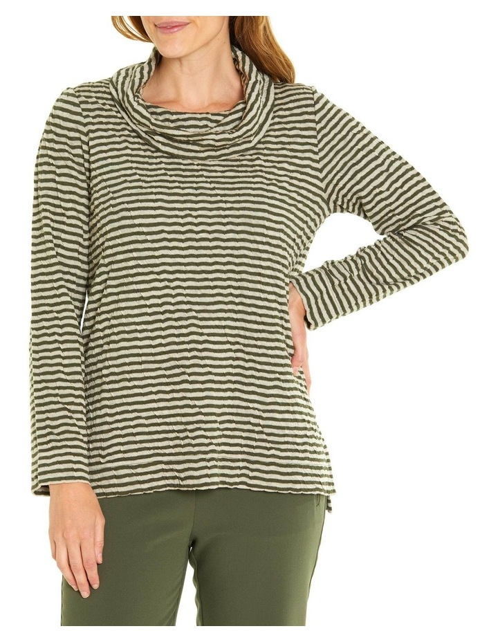 Soft Cowl Neck Long Sleeve Tee image 1