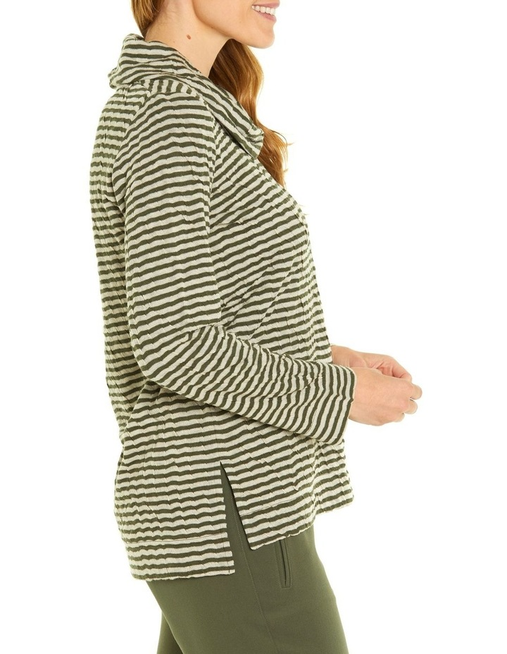 Soft Cowl Neck Long Sleeve Tee image 2