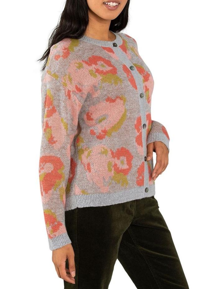 Floral Jacquard Cardigan image 2