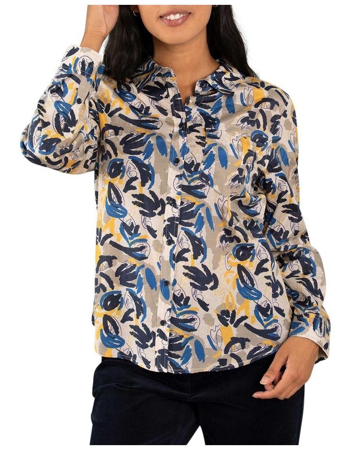 Layered Leaf Print Shirt image 1
