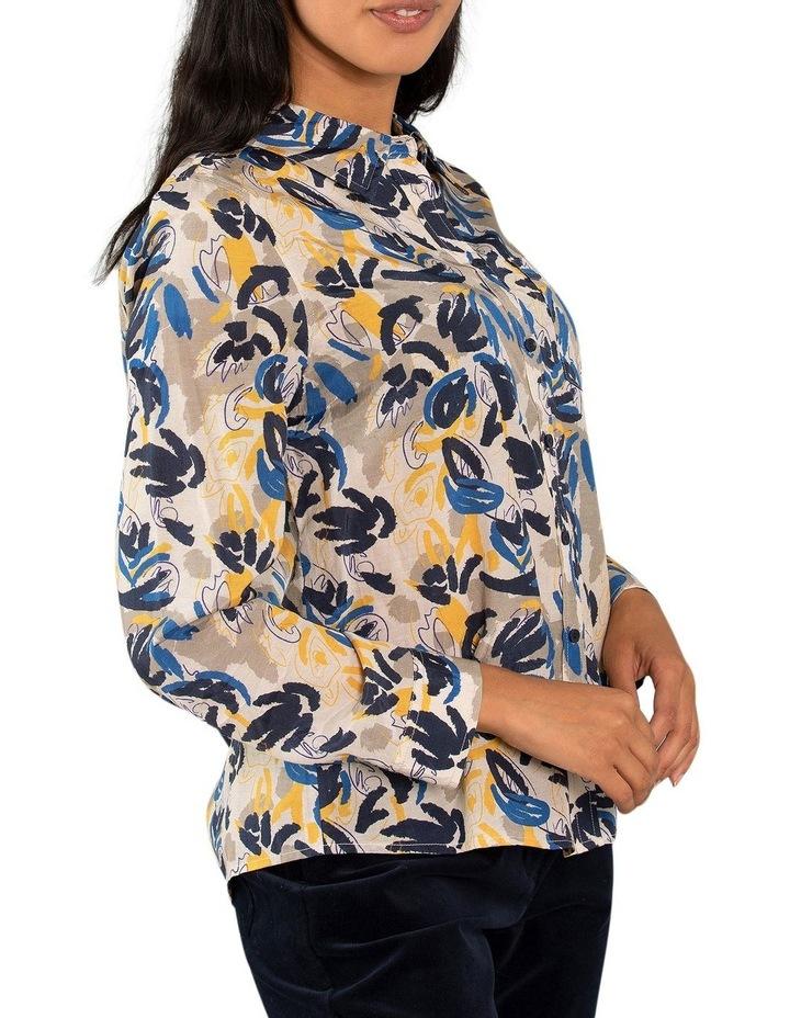 Layered Leaf Print Shirt image 2