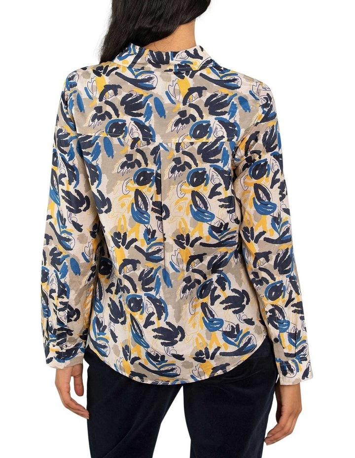 Layered Leaf Print Shirt image 3