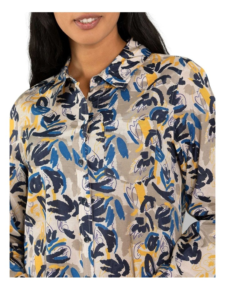 Layered Leaf Print Shirt image 4