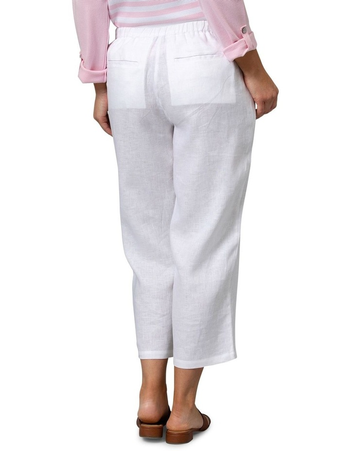 Washer Linen Crop Pant White image 2