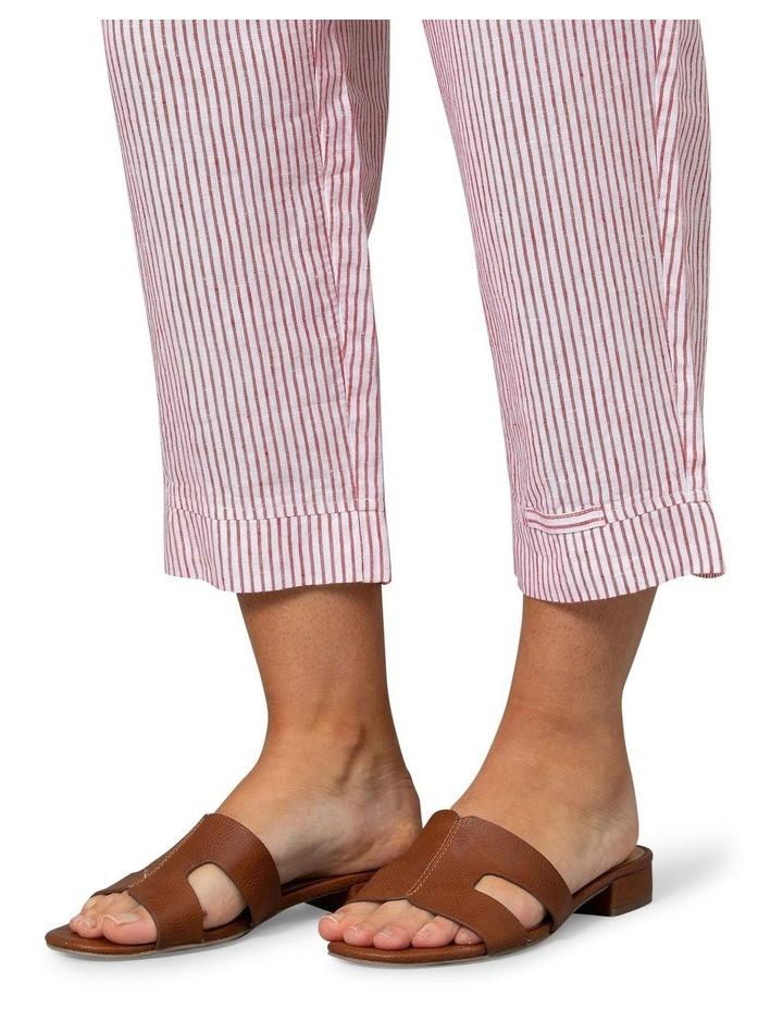 Stripe Linen Pant Red/White image 4
