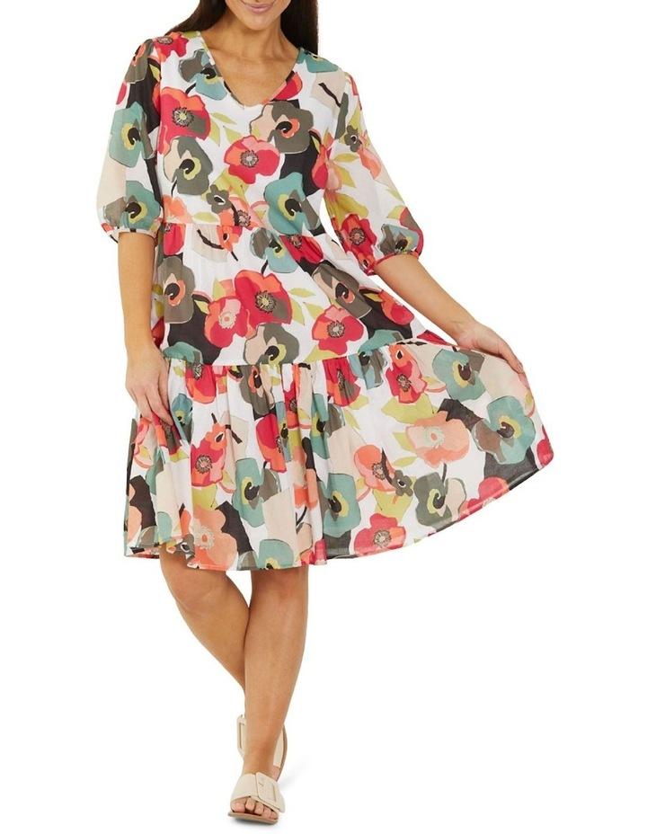 Paper Floral Print Midi Dress Multicolour image 1