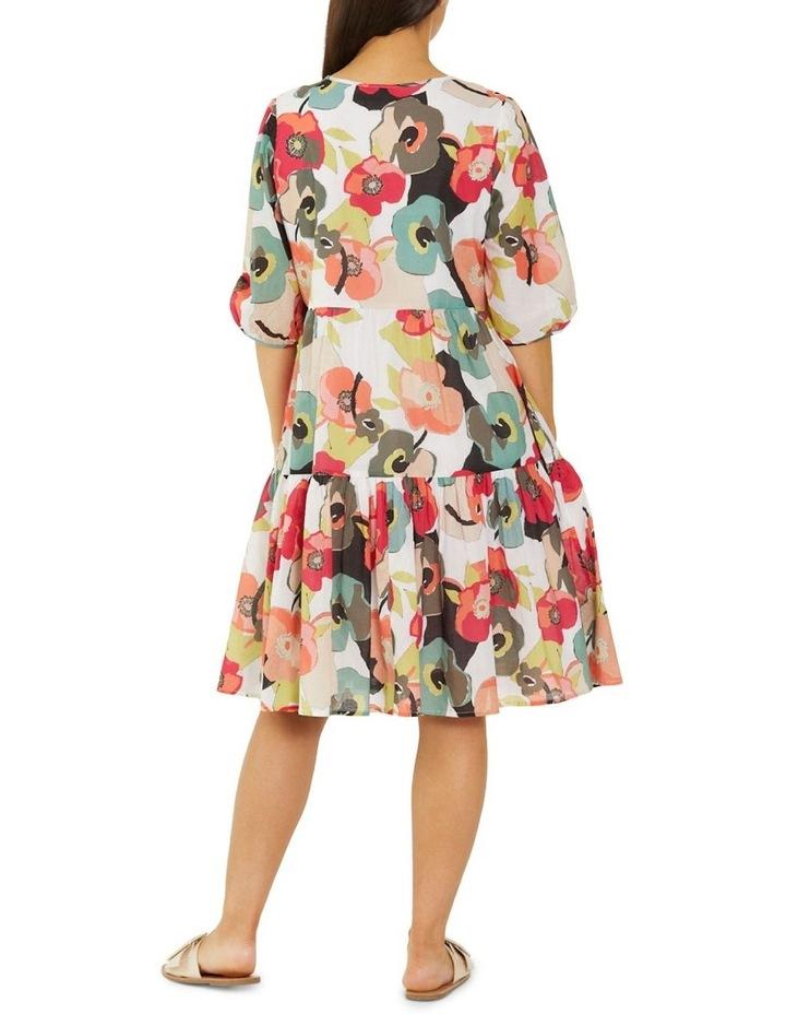 Paper Floral Print Midi Dress Multicolour image 2