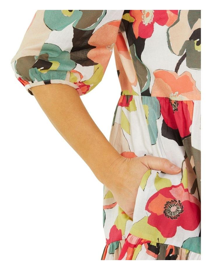 Paper Floral Print Midi Dress Multicolour image 4