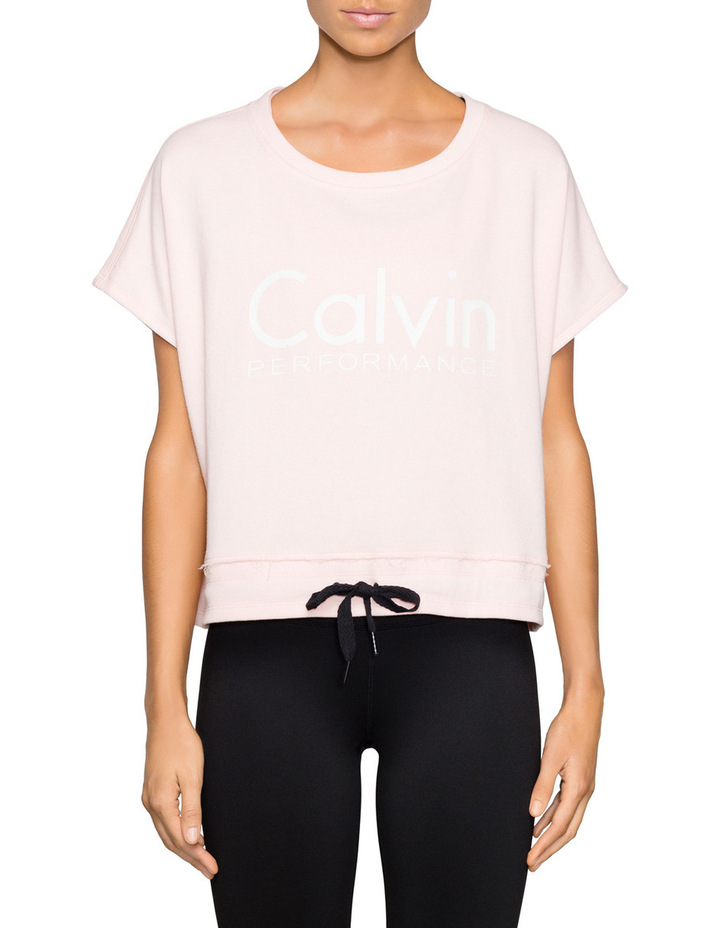 Cropped Boxed Top Tie at Waist image 1