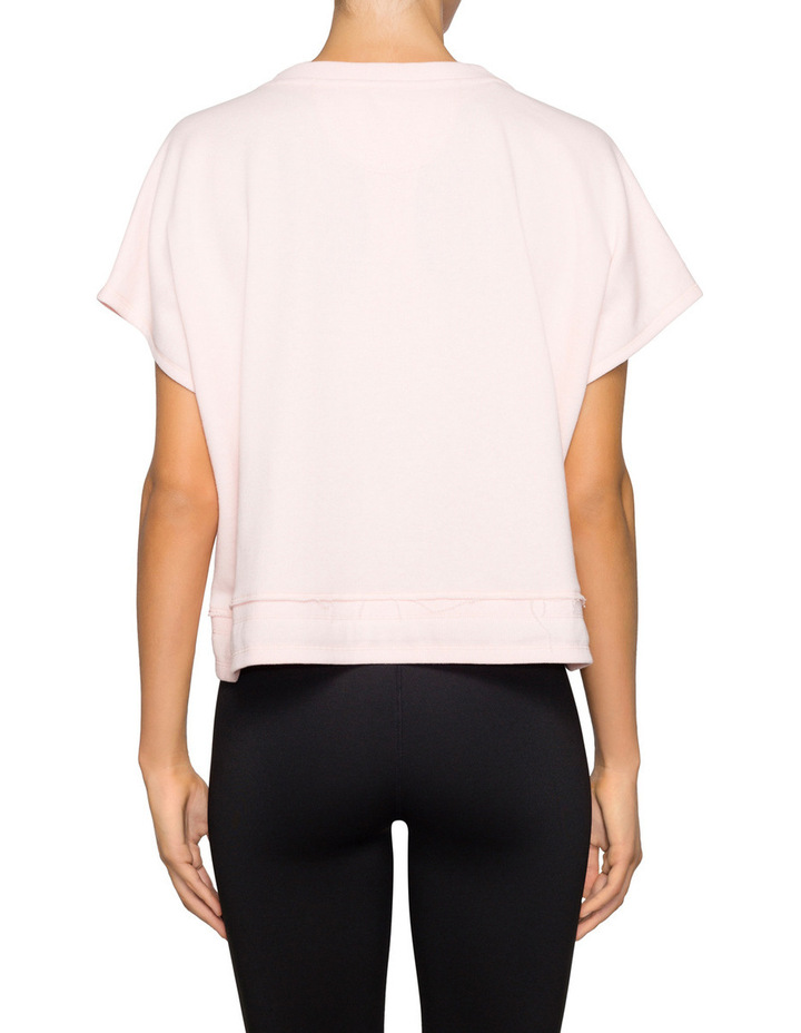 Cropped Boxed Top Tie at Waist image 2