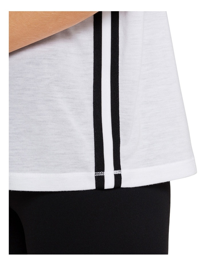 Boxy V Neck T-shirt with Rolled Cuffs image 3