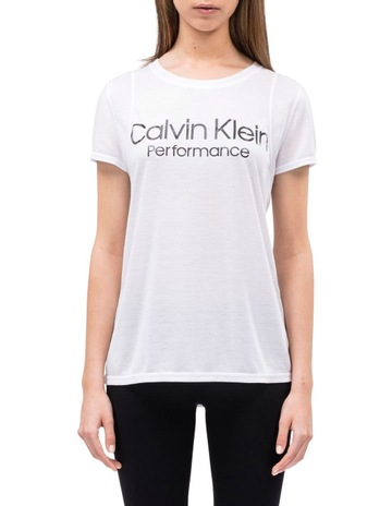 b81ced21d6117 CK Performance Epic Knit Solid Tee With Logo