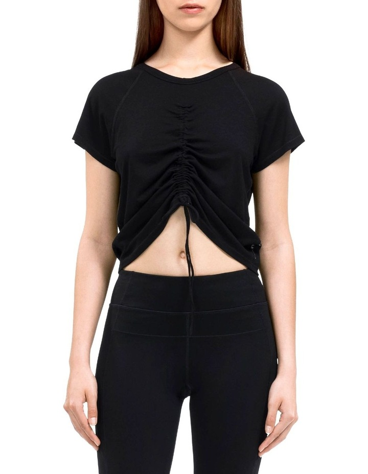 RUCHED FRONT CAP SLEEVE TEE image 1
