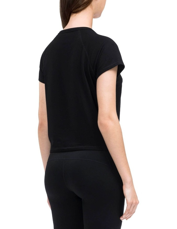 RUCHED FRONT CAP SLEEVE TEE image 3