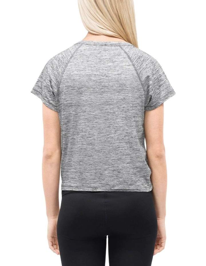 RUCHED FRONT CAP SLEEVE TEE image 2