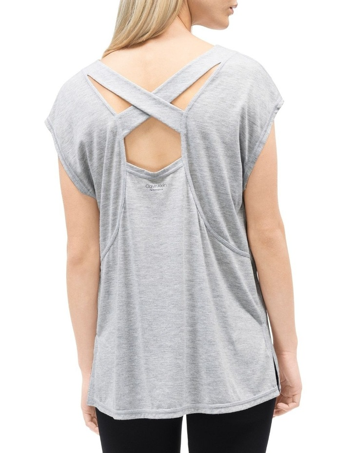 Cap Sleeve Tee With Strappy Back image 3