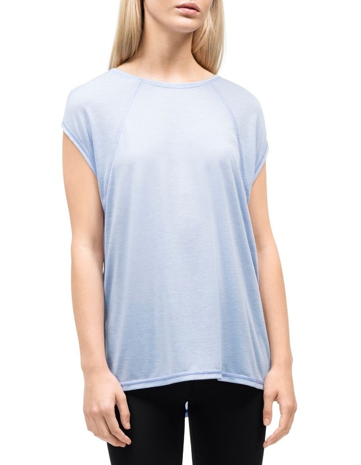 CAP SLEEVE TEE W/ STRAPPY BACK image 2