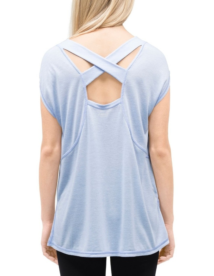CAP SLEEVE TEE W/ STRAPPY BACK image 3