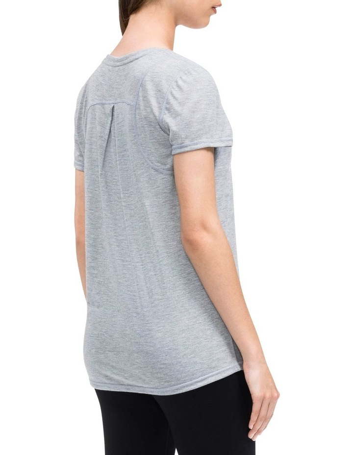 EPIC KNIT SHORT SLEEVE TEE W/ INSET SHOULDER SEAMS PEARL GREY HEATHER image 2