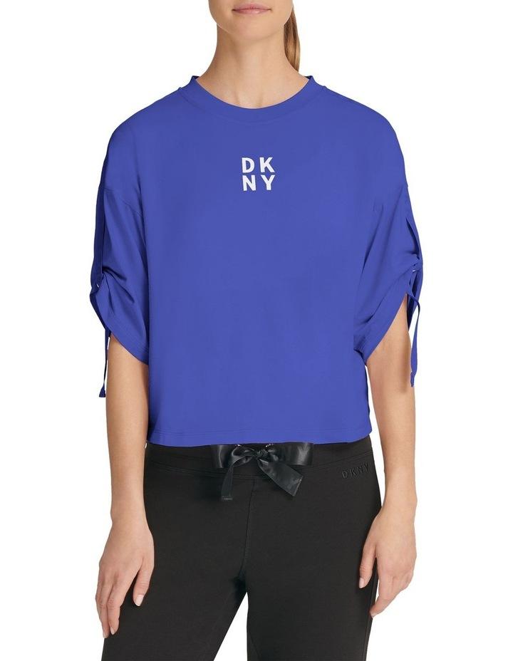Boxy Crew-Neck Short Sleeve Tee W/ Logo Tape image 1