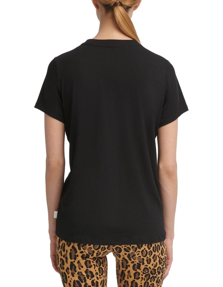 Basic Crewneck Tee With Leopard Dropout Logo image 2