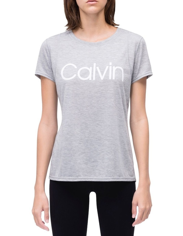 Calvin Logo Short Sleeve Tee With Inset Shoulder Seams image 1