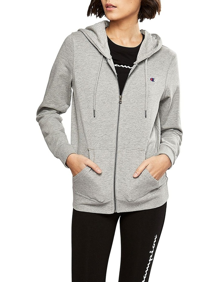 FRENCH TERRY C LOGO ZIP HOODIE image 2