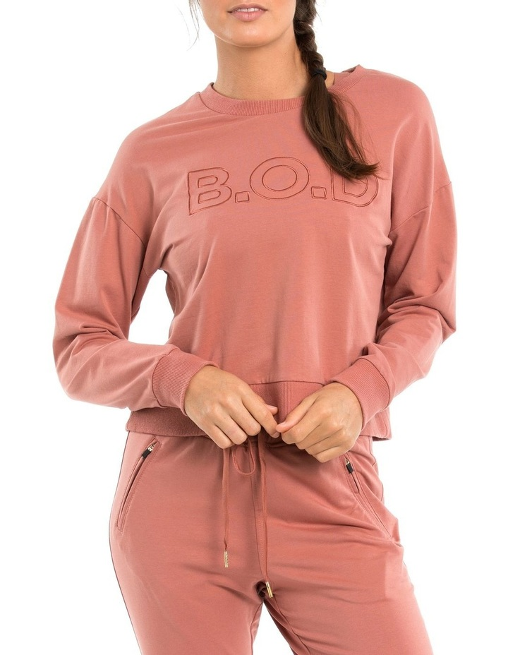 Classic Crop Sweat W/ Embroidered Logo image 1