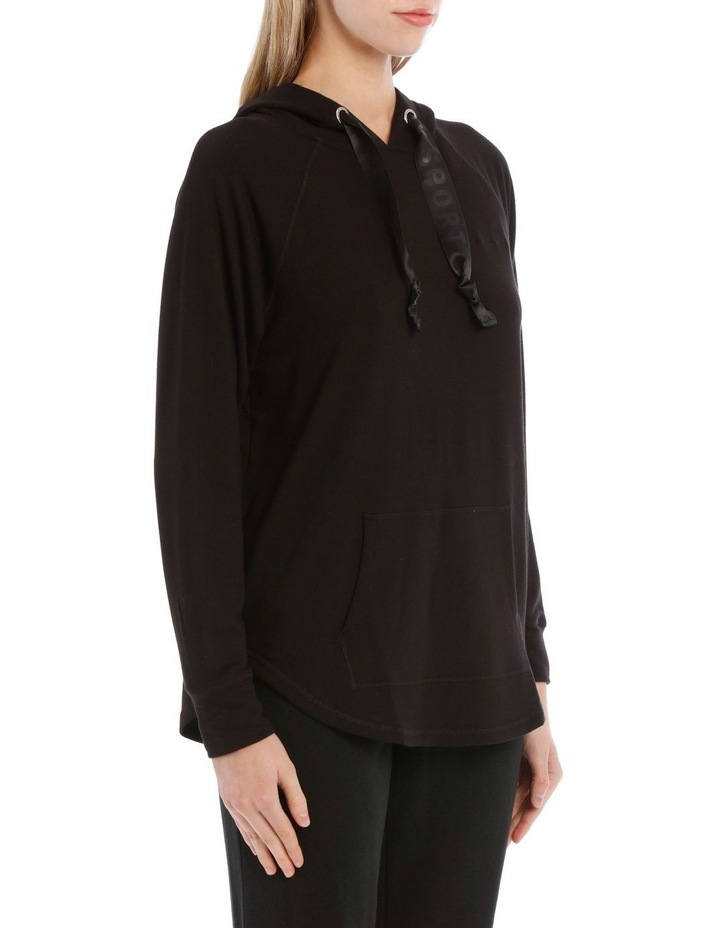 Hooded Pullover with Satin Logo Drawcord image 2