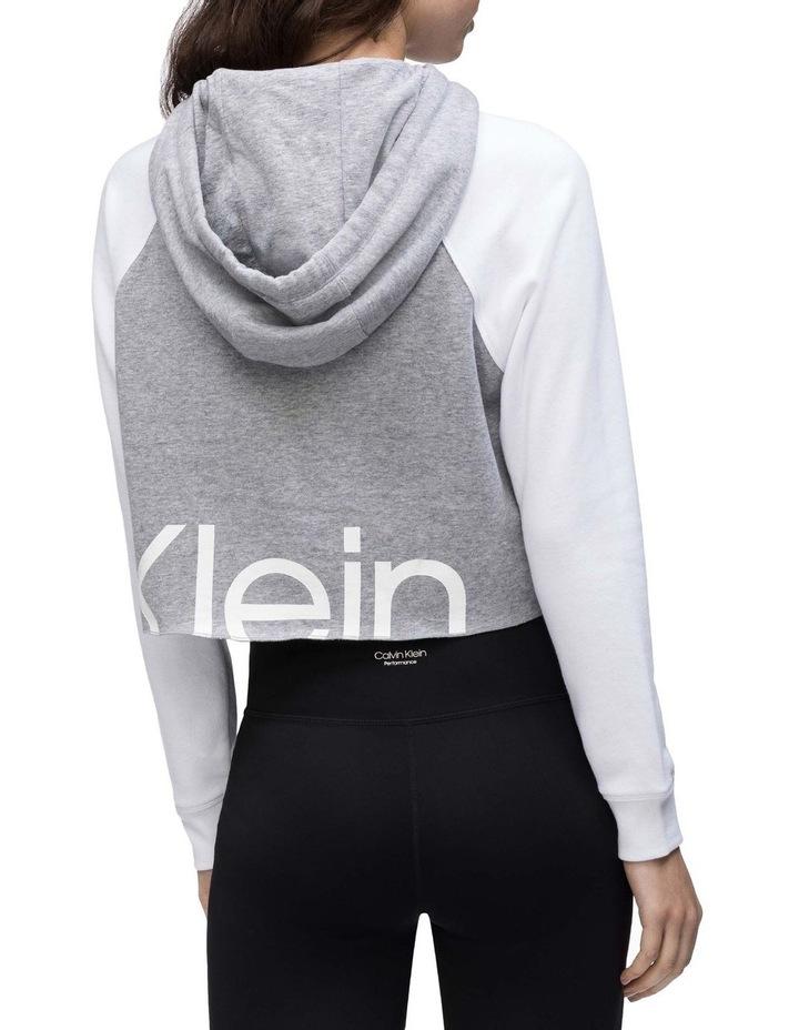 Logo Long Sleeve Raglan Crop Pullover Hoodie image 2